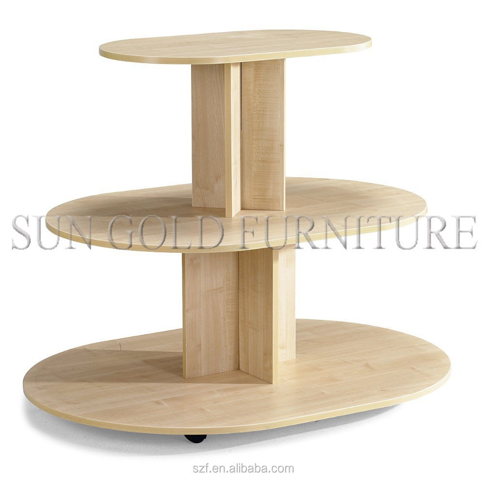 Wooden Display Stand ~ Wooden display stand for supermarket and shopping mall