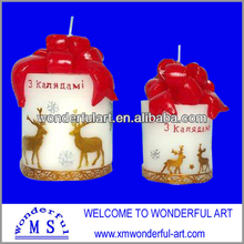 hot sale delicate christmas santa clause deer candles