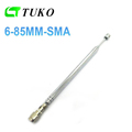 OEM stainless steel silver telescopic rod whip antenna for radio