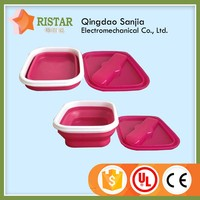 Many size plastic picnic lunch-box recycled plastic collapsible Lunch Box with competitive price
