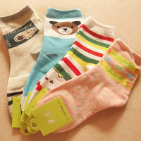 Fashion Sex Cotton cartoon girl tube sock