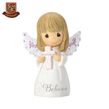 Factory custom made small cheap resin miniature angel figurines