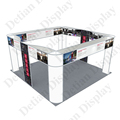 Open Aluminium Banner Trade Show Booth Display