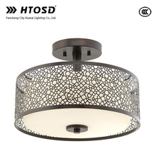 HTCC0009 Modern Circular Pattern Metal Shade Led Fancy Light for Home