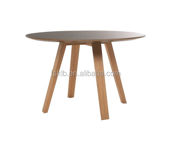 elegant quality contemporary solid wood round dining table