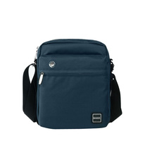 Small Stylish Promotional Clear Nylon Navy Mens Canvas Waterproof Messenger Bag