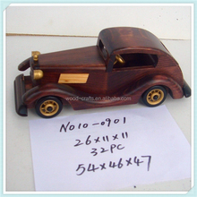 miniature wooden car craft factory direct sale