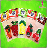 hanging custom cherry lemon rose orange scent car air freshener july07302257