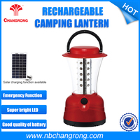 Outdoor Small Camping Lantern Portable Solar Rechargeable Led Camping Lantern