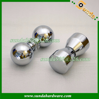 good price aluminum glass door knob