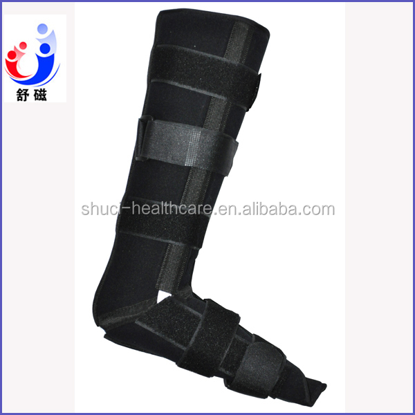 China Manufacture Neoprene Boot Ankle Support Lg Brace with Metal Bands