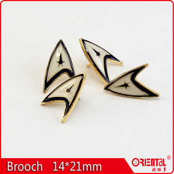 enamle metal suit brooch pin for men