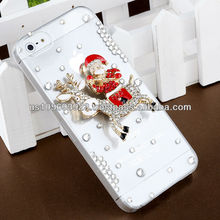 IMPRUE Christams Series 3D Crystal Bling Stone Case For Apple Iphone5 With Retailer Package