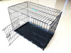 China supplier customizable square stainless steel big dog cage hot sale dogs application dog aluminum cage