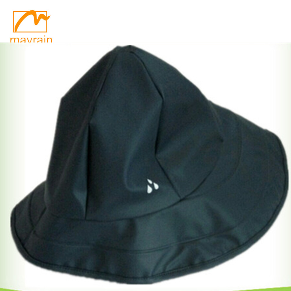 Hot sell high quality promotional folding waterproof black rain hat