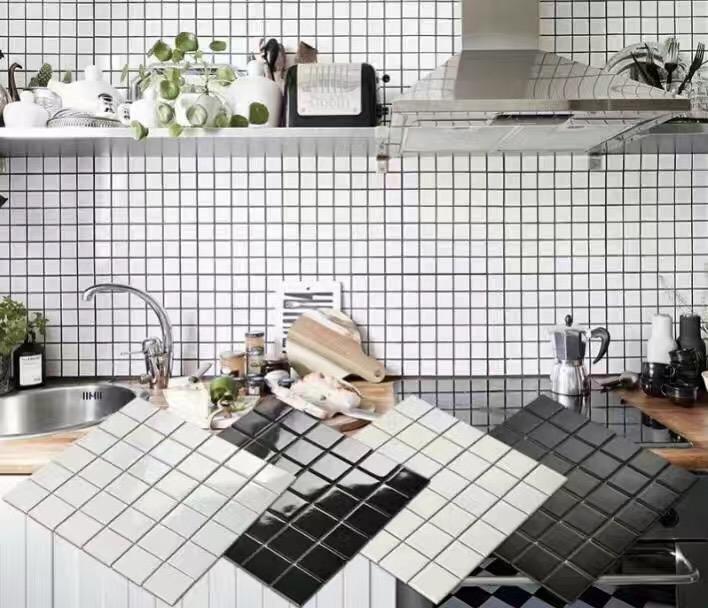 grossiste mosaique noire salle de bain acheter les meilleurs mosaique noire salle de bain lots. Black Bedroom Furniture Sets. Home Design Ideas