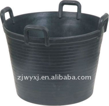 Large Four Handled Basket tyre rubber basket rubber bucket REACH