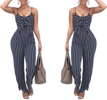 Western Women Straps Jumpsuit Ladies Sexy White and Blue Jumpsuit