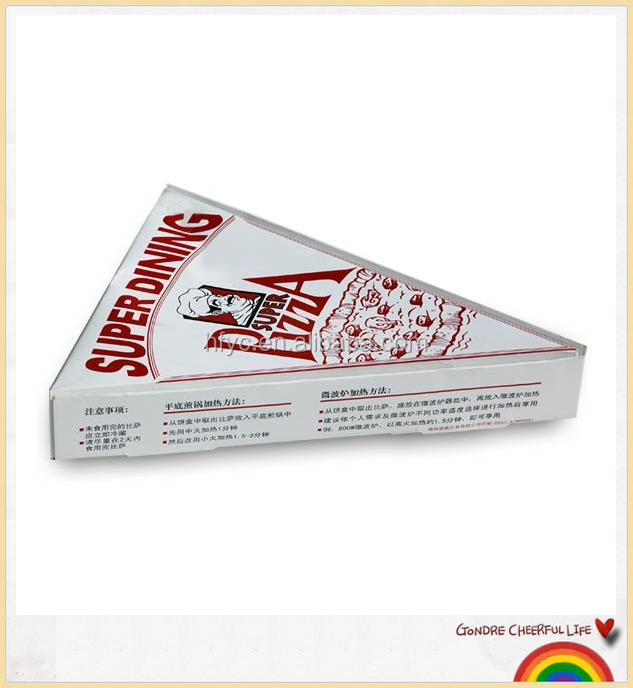 Cheap Custom triangle white corrugated pizza packaging boxes