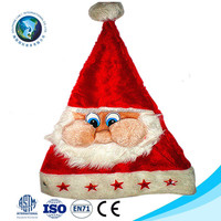 Customized fashion cheap plush christmas santa claus hat wholesale new christmas decoration