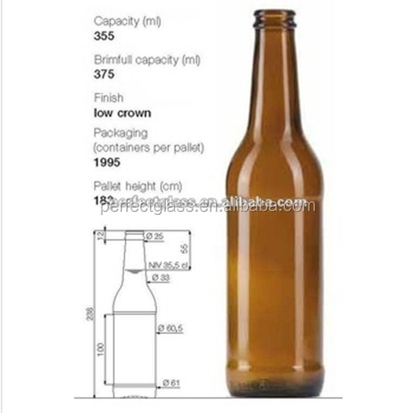 355ml amber beer <strong>bottle</strong>