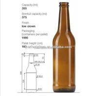 355ml amber beer bottle
