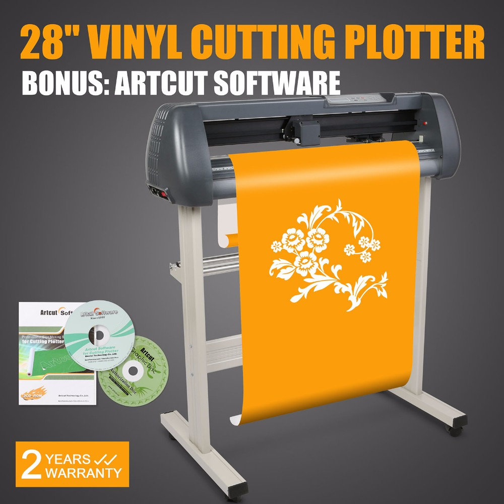 "28"" Vinyl Sign Sticker Cutter Plotter With Contour Cut Function Cutting Machine"