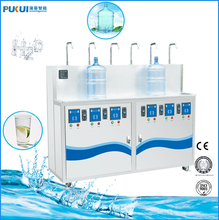 5 gallon bottle refilling water vending machine with 6 output faucets