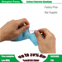 Cohesive Bandage strong fabric cotton adhesive elastic wrap bandage