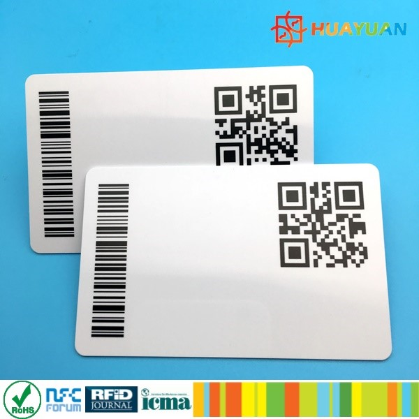 Custom Printing CR80 PVC Plastic Card QR Code for Promotion