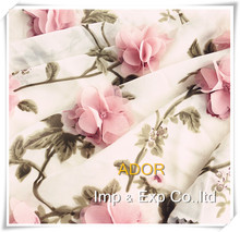 Made in china elegance printed chiffon with handwork embroidery designs