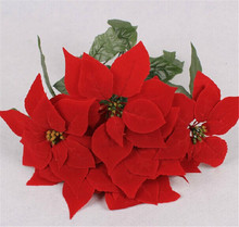 party decoration party decoration artificial single stem poinsettia flower christmas lights