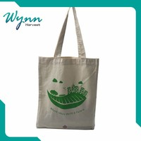 Natural recycled cheap foldable reusable cotton shopping bag