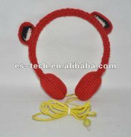 newest earpiece headphone with knitting wool