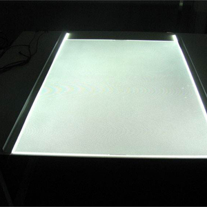 Uniformity Backlit Led Light Panel Reception Desk By Translucent Stone Plastic Laminating Sheets Lgp panel