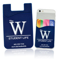Mobile phone silicon card holder with 3M sticker