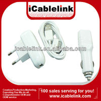 Hot sale 3 in 1 car charger&home charger for iphone 4/4s