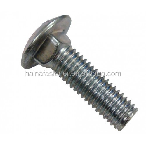 high quality low price carbon steel/stainless steel din 603 flat head carriage bolt