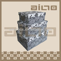 hot sale lace design storage container, paper packaging box,paper box with FSC certificate