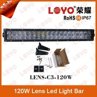 2015 New Product!!! CE Rohs IP67 Approved 120W Double Row 4D Reflector LED Driving Offroad Light Bar