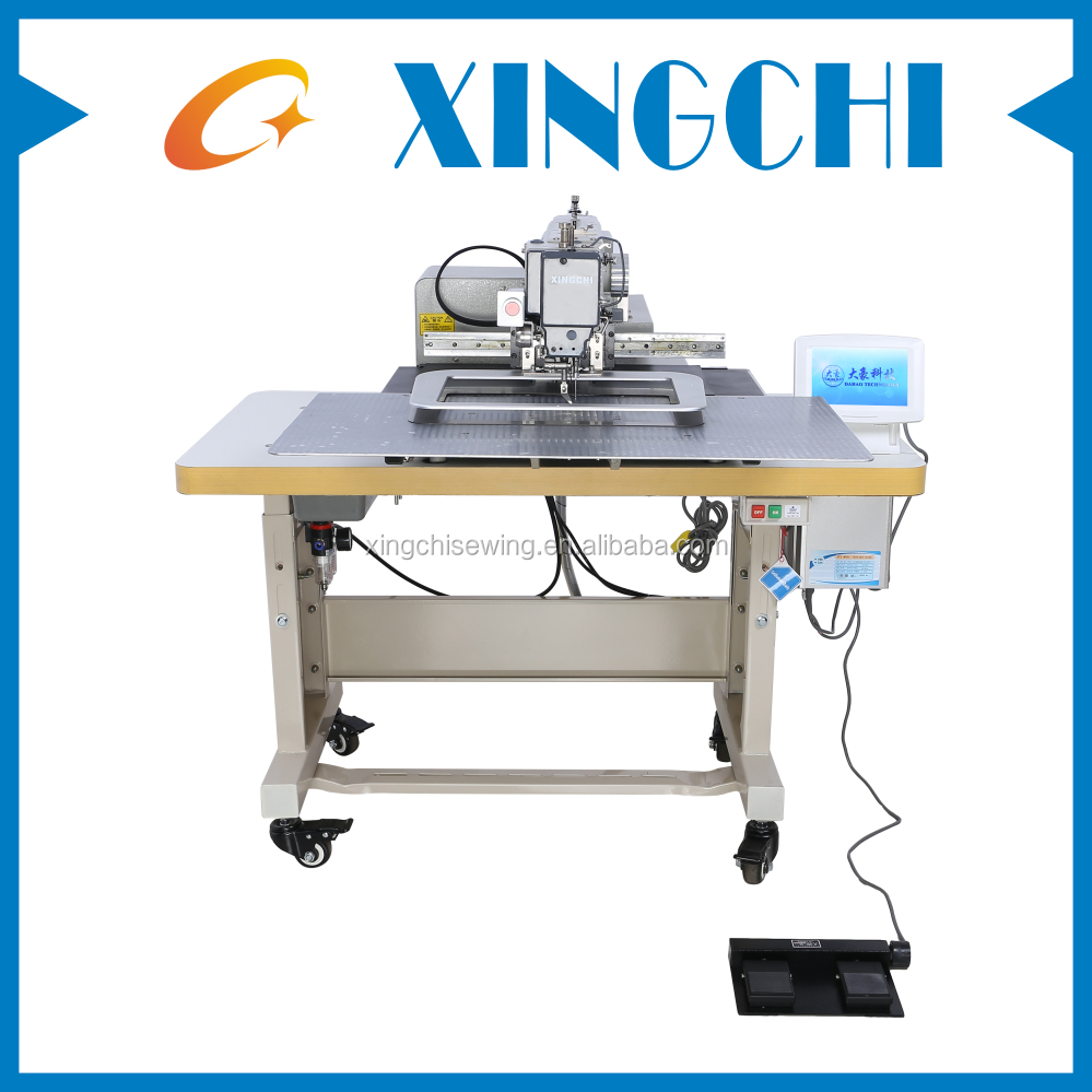 Automatic pattern sewing machine for logo,label attaching,cap visors sewing