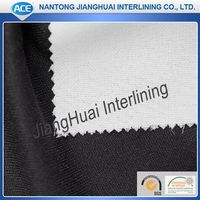 Double dot wool fusible garment interlining