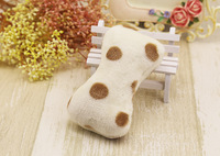 Cheap price bone shape squeaky plush pet toy for dog chewing