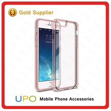 [UPO] 2016 Unique Clear Hard Plastic Acrylic Transparent TPU Waterproof Phone Case for iPhone 6