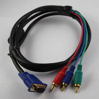 Great stability VGA to TV Cable VGA RCA Splitter Converter Cable