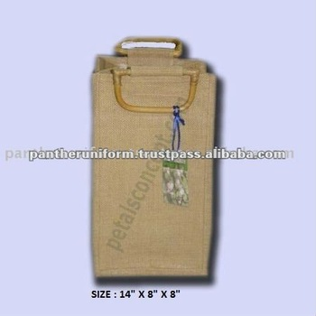 Natural jute wine packing bag