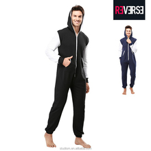 2017 hot sale wholesale winter adult two-design onesie men pajamas onesie