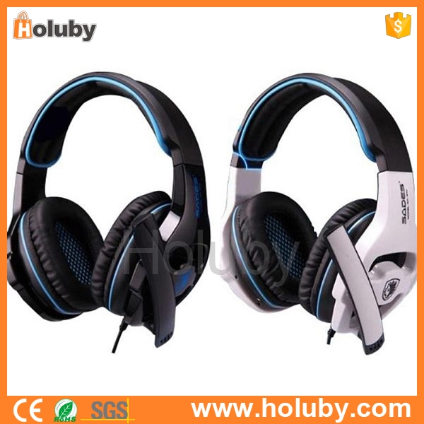 Alibaba express Professional Over-Ear Gaming Headphone, gaming headset with microphone, noise cancelling earphone