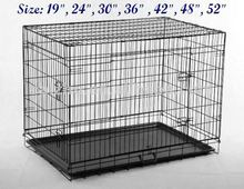 7 Sizes of 2 Doors Folding Dog Cage Dog Crate Dog House