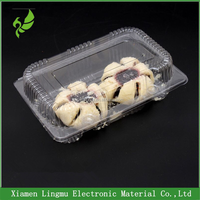 Clamshell clear plastic cake/cookie packaging box/tray